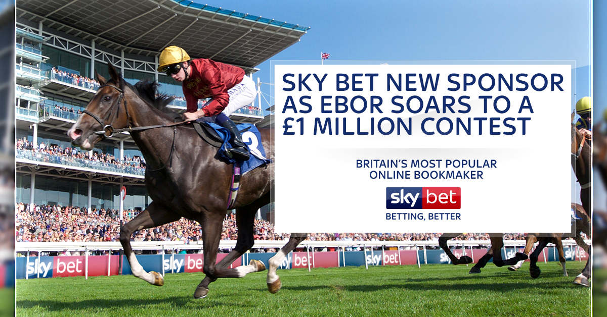 Sky Bet new sponsor as Ebor soars to a £1 million contest