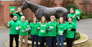 JOCKEYS SADDLE UP TO RAISE CASH FOR CHARITY